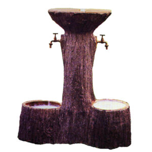 Fontana da giardino simil legno tre vasche