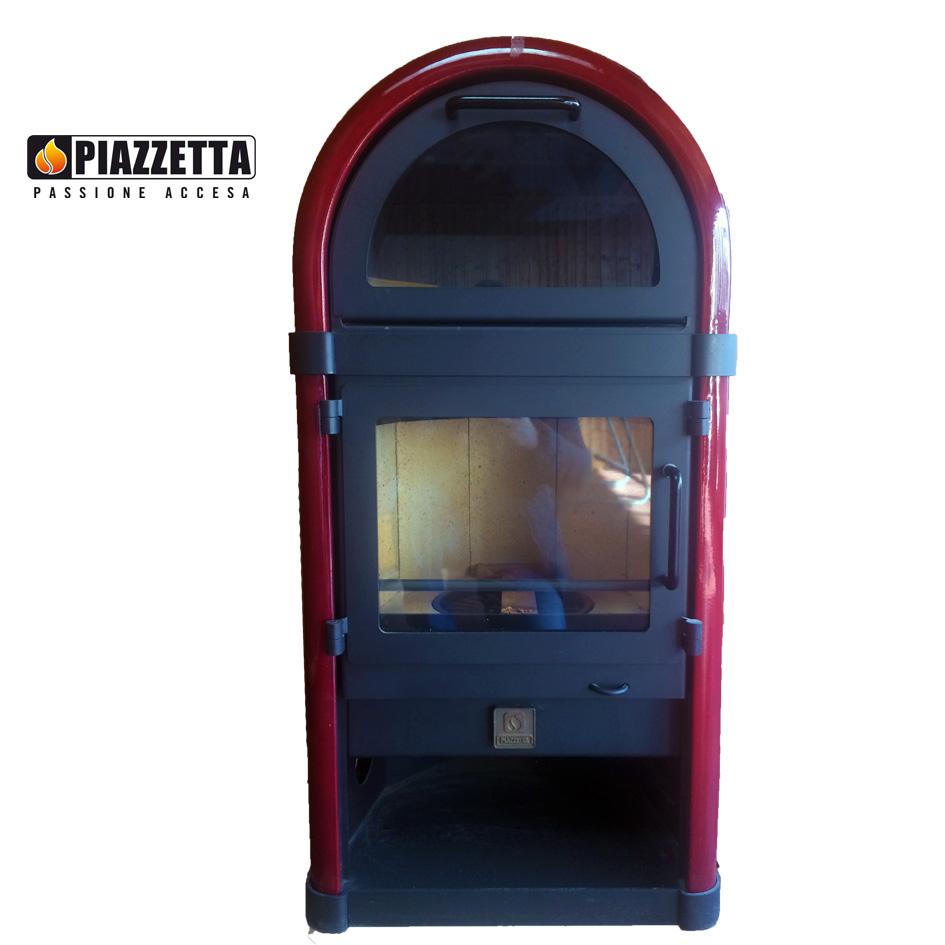 Stufa a legna rivestita in maiolica - Piazzetta Mod 910 ...