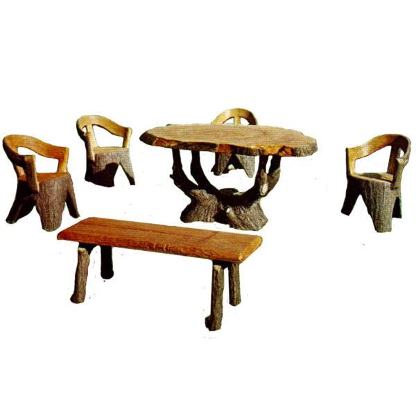 Set tavolo ceppo