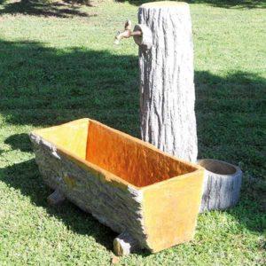 fontana effetto legno Monno